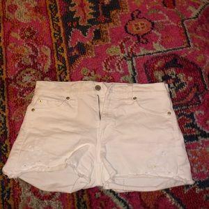 Gap White Jean Shorts